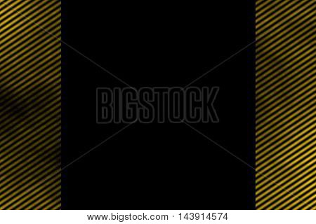 Illustration of a yellow smoky side frame with diagonal stripes
