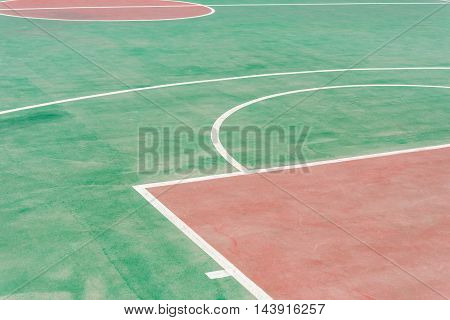 outdoor basketball shooting area in a day time horizontal composition