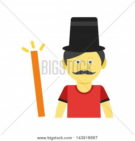 Magician, man, hat icon vector image. Can also be used for celebrations. Suitable for web apps, mobile apps and print media.