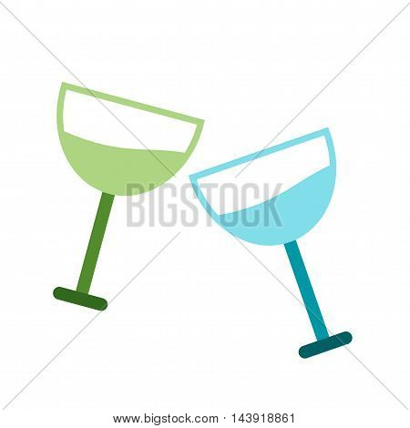 Glasses, party, cocktail icon vector image. Can also be used for celebrations. Suitable for web apps, mobile apps and print media.