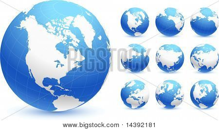 globes Original Vector Illustration Globes and Maps Ideal for Business Concepts