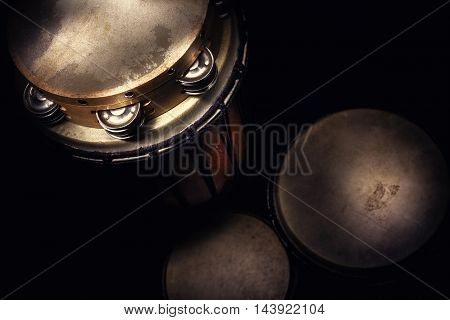 Wooden Tambourine And Djembes
