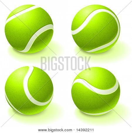 Tennis Ball Collection Original Vector Illustration