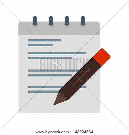 Writing, notes, business icon vector image. Can also be used for employment. Suitable for mobile apps, web apps and print media.