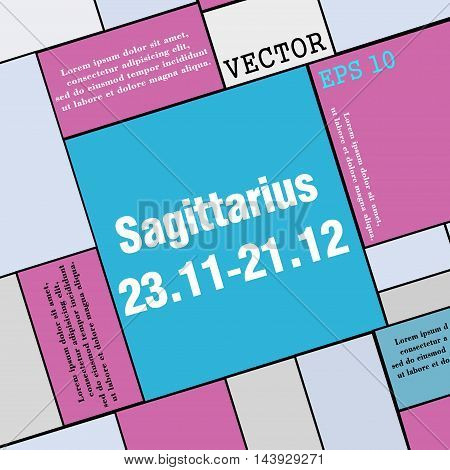Sagittarius Icon Sign. Modern Flat Style For Your Design. Vector