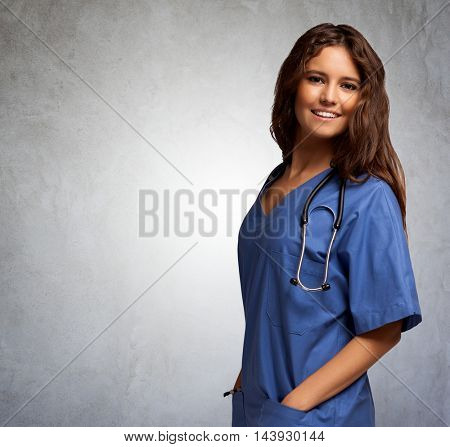 Young pretty smiling nurse portrait