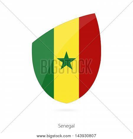 Flag Of Senegal. Senegal Rugby Flag.