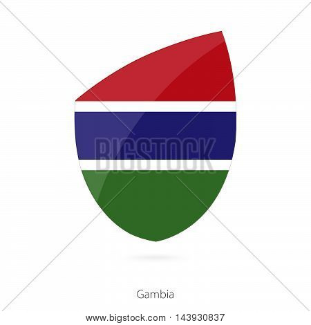 Flag Of Gambia. Gambian Rugby Flag.