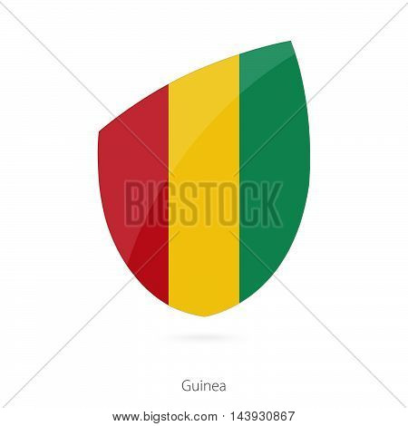 Flag Of Guinea. Guinea Rugby Flag.