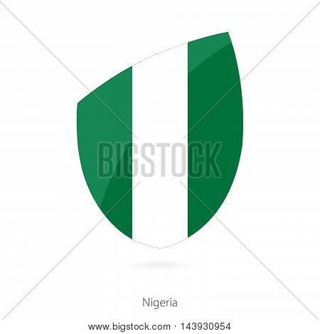 Flag Of Nigeria. Nigerian Rugby Flag.