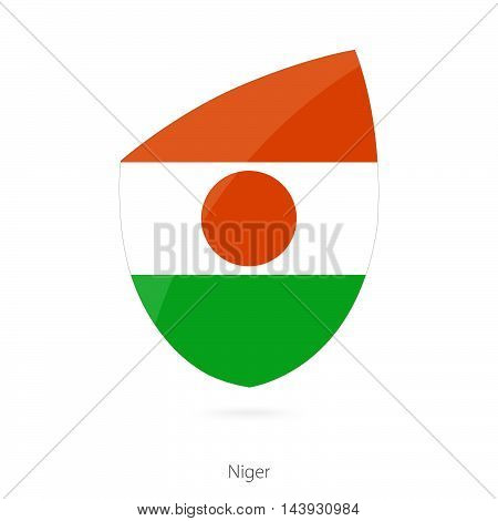 Flag Of Niger In The Style Of Rugby Icon.