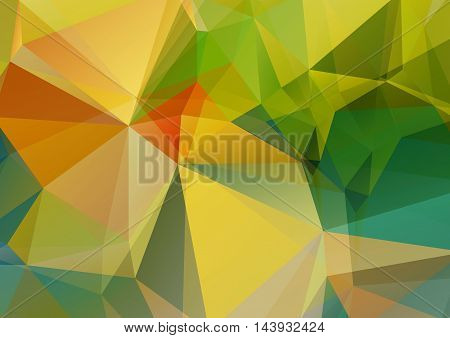 Polygonal abstract background with bright summer colors.
