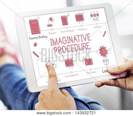 Design Development Visualize Creativity Concept