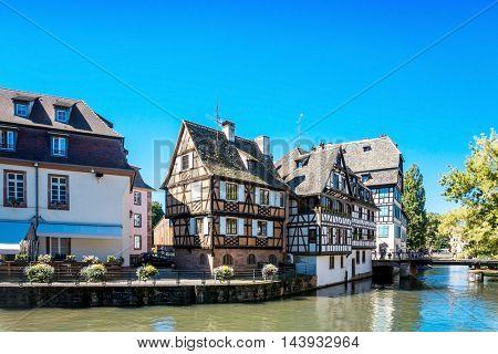 Traditional houses in La Petite France, Strasbourg, Alsace, France
