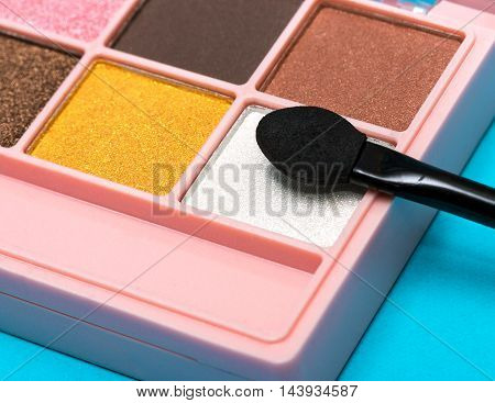 Eyeshadow Makeup Brush Means Beauty Product And Applicator