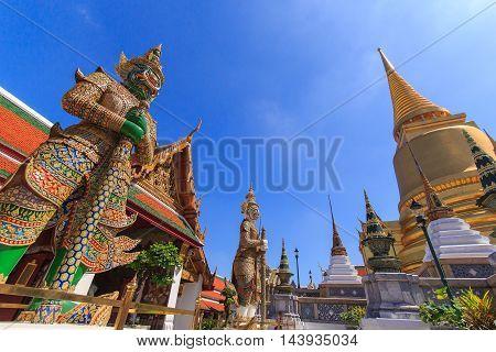 Demon Guardian in Wat Phra Kaew and Grand Palace Bangkok Thailand