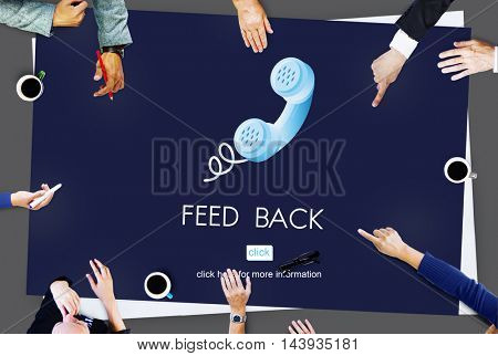 Feed Back Answer Communication Reply Report Concept