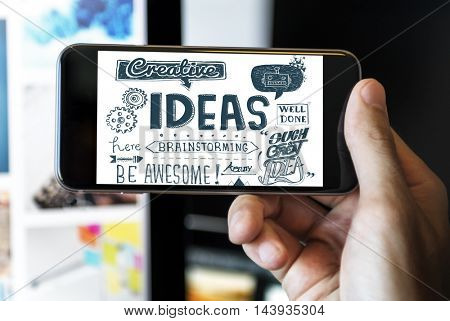 Ideas Brainstorming Strategy Graphic Concept
