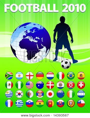2010 Global Soccer Football Match Original Vector Illustration