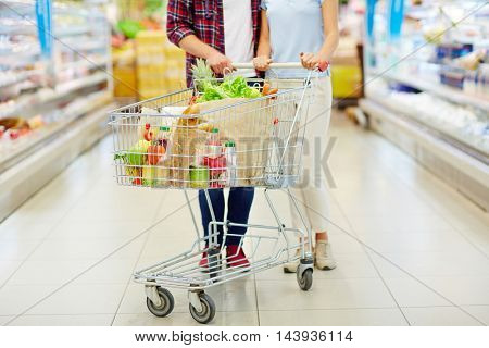 Cart with food
