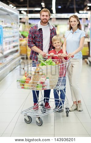 Buyers in supermarket