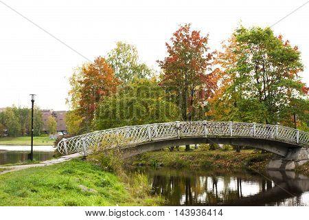 Old Bridge In Autumn, Petrozavodsk, Karelia, Russia