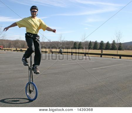 Man Riding 6 Foot Unicycle! Harder Than It Looks!