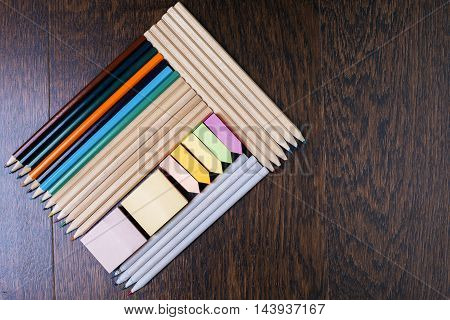 Pencil And Sticker Rectangles