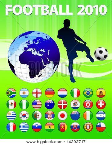 2010 Global Soccer Football Match Original Vector Illustration