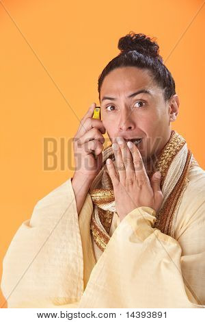 Shocked Man On A Cellphone