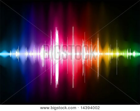 Pulse Wave Background Original Vector Illustration