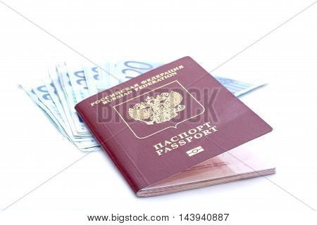 Some Euro Banknotes And Russian Passport
