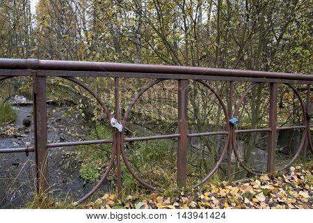 Old Bridge In Autumn, Petrozavodsk, Karelia