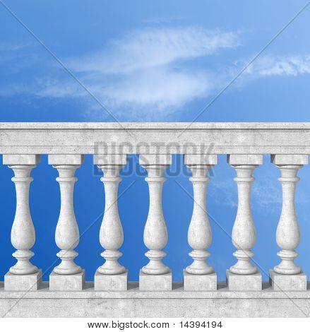 Balaustrada com pilar