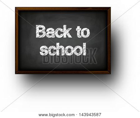 Back to school background with blackboard. Vector illustration.