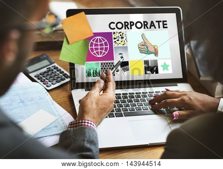 Corporate Business Organization Company Concept