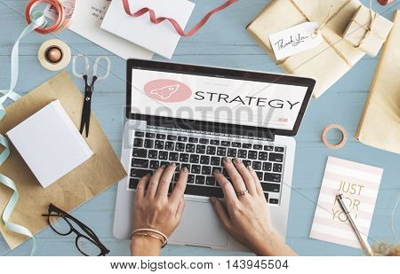 Strategy New Business Launch Plan Concept