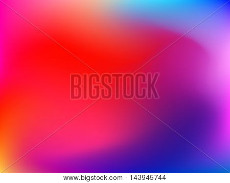 Abstract horizontal gradient blured background with pink, violet, purple, red, orange and yellow colors