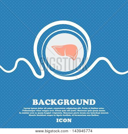Liver Sign. Blue And White Abstract Background Flecked With Space For Text And Your Design. Vector