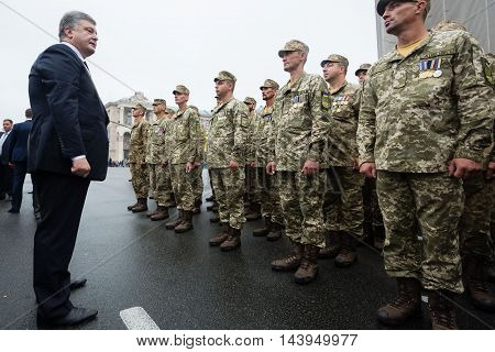 President Of Ukraine Petro Poroshenko Congratulated Ukrainians On Independence Day