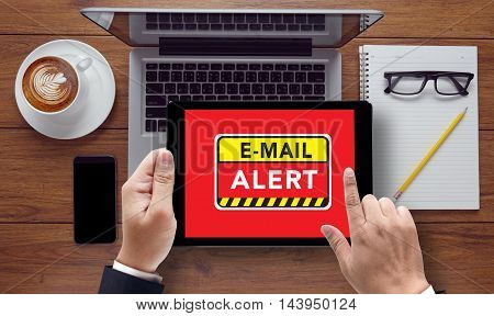 E-mails Hacked Warning Digital Browsing Concept