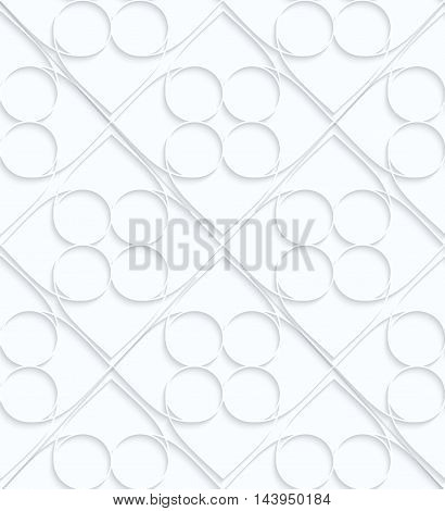 Quilling White Paper Circles Inside Squares