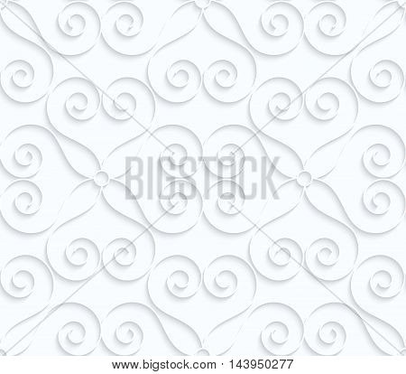 Quilling White Paper Hearts With Swirls