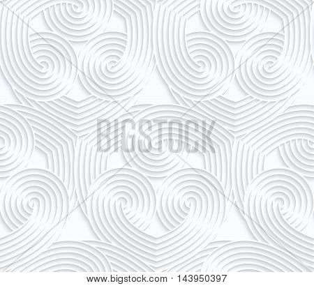 Quilling White Paper Overlapping Striped Hearts