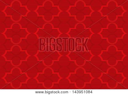 Red Marrakech Grid