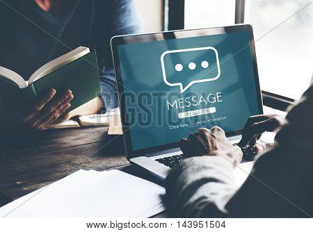 Message Communication Online Conversation Concept