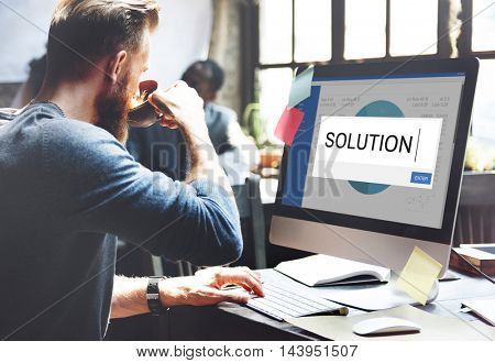 Solution Analytics Strategy Business Concept