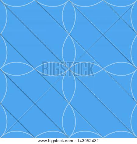 Retro 3D Blue Diagonal With Four Foils