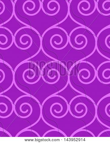 Retro 3D Purple Swirly Hearts