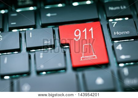 911 Emergency Enter Key high quality and high resolution studio shoot